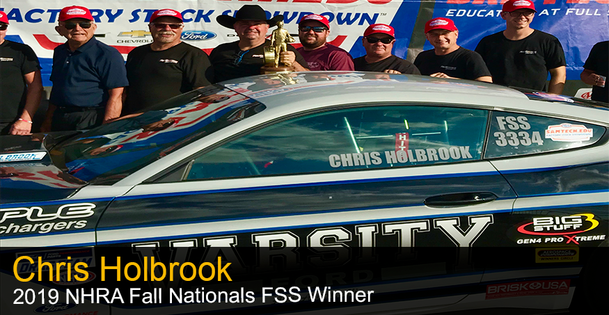 Chris Holbrook 2019 NHRA Fall Nationals FSS Winner