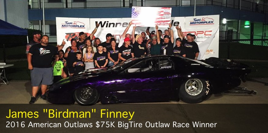 James birdman Finney 75K Big Tire Outlaw Race winner